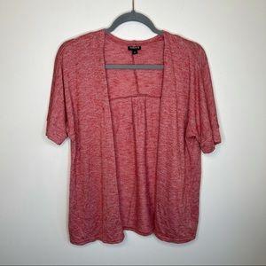 Torrid Red Short Sleeve Open Front Cardigan Knit